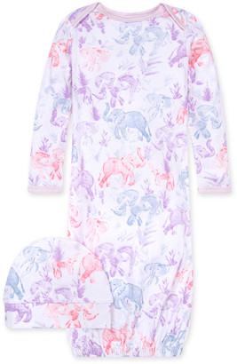 Burt's Bees Ello Elephant Organic Baby Gown & Cap Set