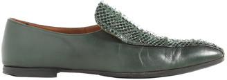 Bottega Veneta Green Leather Flats