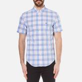 Lacoste Men's Short Sleeve Check Shirt - Methylene/Flower Purple