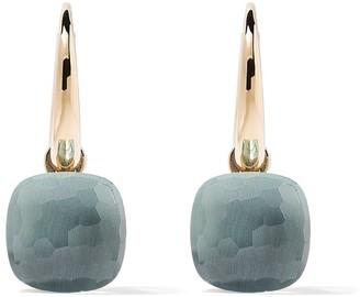 Pomellato 18kt rose & white gold Nudo blue topaz earrings