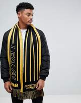 New Look New Look Scarf With Legacy In Black And Yellow