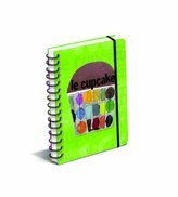 Graphique - Le Cupcake Spiral Bound Journal, Green