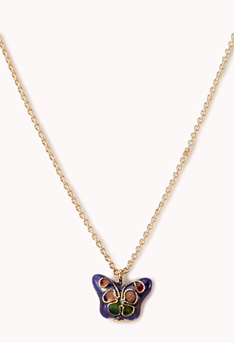 Forever 21 Sweet Butterfly Pendant Necklace