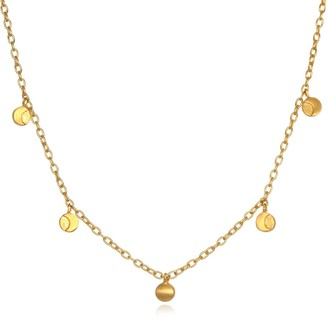 Satya Jewelry Gold Moon Phase (14-Inch +2 Ext) Choker Necklace