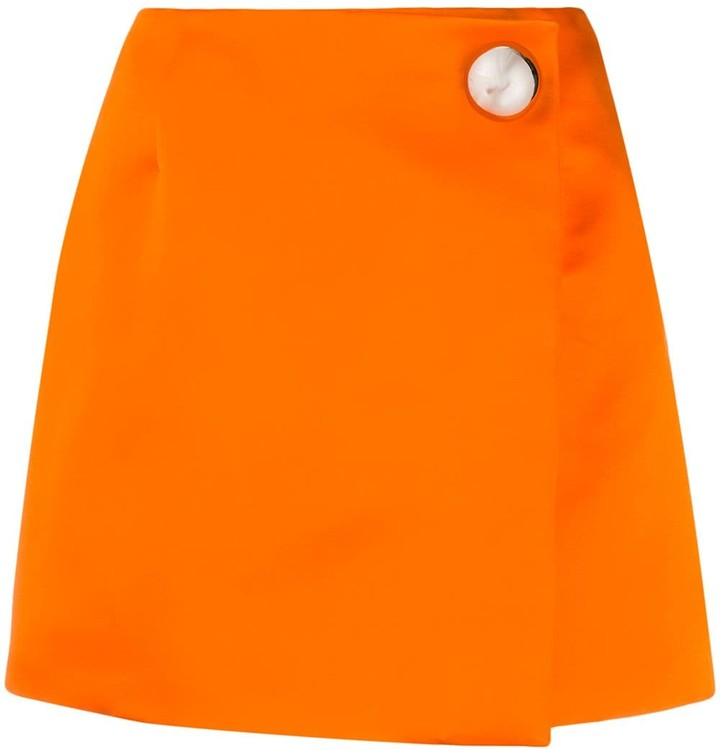 Christopher Kane Satin-Finish Mini Skirt