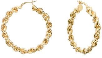 GABIRIELLE JEWELRY Gold Over Silver Hoops