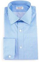 Charvet Striped Barrel-Cuff Dress Shirt, Blue