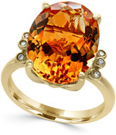 Effy Citrine (8 ct. t.w.) and Diamond Accent Ring in 14k Gold