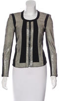 Helmut Lang Leather Collarless Jacket