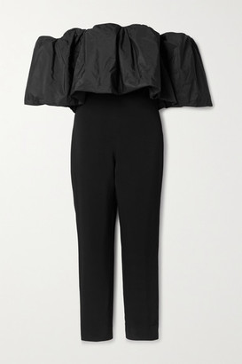 Cushnie Off-the-shoulder Stretch-crepe And Taffeta Jumpsuit - Black