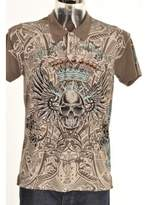 Christian Audigier Polo T Shirt Grey