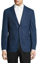 Dkny Slim-Fit Checkered Wool Sports Jacket