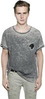 Just Cavalli Tiger Patch Cotton Jersey Blend T-Shirt