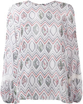 Giambattista Valli geometric print blouse - women - Silk/Nylon/Viscose - 42