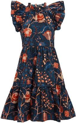 Ulla Johnson Eden Floral Poplin Mini Dress