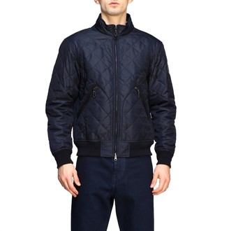 Burberry Quilted Bomber Jacket With Zip