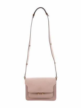 Marni Leather Trunk Shoulder Bag Pink