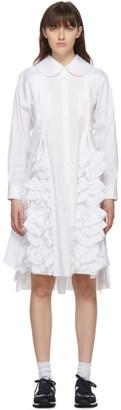 Comme des Garçons Comme des Garçons White Ruffle Shirt Dress