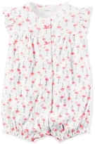 Carter's Flamingo-Print Cotton Romper, Baby Girls (0-24 months)