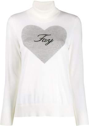 Fay logo heart jumper