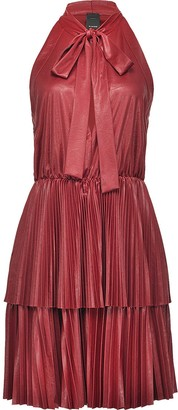Pinko Pussy Bow Pleated Dress