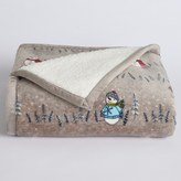 Cuddl Duds Sherpa Fleece Plush Throw