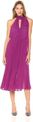 Betsey Johnson Women's Pleated Chiffon Halter Dress