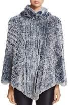 Maximilian Furs Knit Rabbit Fur Poncho - 100% Exclusive