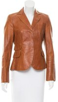 Akris Notch-Lapel Leather Blazer