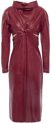 Stella McCartney Cutout Twisted Faux Leather Dress