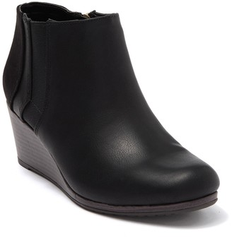 Dr. Scholl's Katch Leather & Suede Wedge Bootie