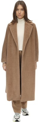 Max Mara 'S LONG BELTED ALPACA & VIRGIN WOOL COAT