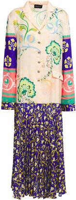 Saloni Sonia Printed Floral-jacquard Midi Dress