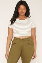 Forever 21 FOREVER 21+ Plus Size Striped Crop Top