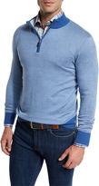 Peter Millar Crown Soft Quarter-Zip Birdseye Pullover Sweater