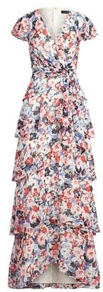 Ralph Lauren Floral Ruffled Georgette Dress