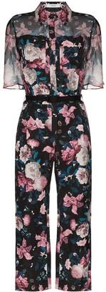 Erdem Vala floral-print jacquard jumpsuit