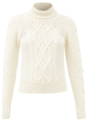 See By Chloe - Cable-knit Wool-blend Roll-neck Sweater - Ivory