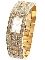 Dolce & Gabbana Women's Quartz Watch with Mother of Pearl Dial Analogue Display and Gold Stainless Steel Strap DW0007