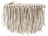 House Of Harlow Fringed Leather Clutch