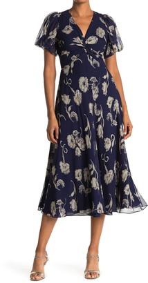 Diane von Furstenberg Leilah Silk Floral Midi Dress