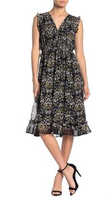 Max Studio Sleeveless Ruffled Dress
