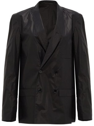 Lemaire Double-breasted Cotton-sateen Jacket - Black