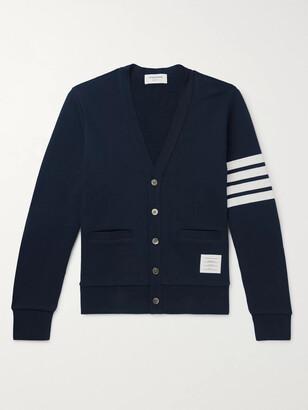 Thom Browne Striped Loopback Cotton-Jersey Cardigan