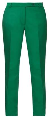 Golden Goose Venice Slit Cuff Crepe Trousers - Womens - Green