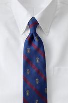 Lands' End Men's Regular Woven Crest Stripe Necktie