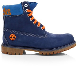 Timberland NBA Collection New York Knicks Lace-Up Leather Boots