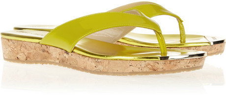 Jimmy Choo Pence patent-leather sandals