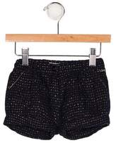 Chloé Girls' Metallic-Accented Mini Shorts