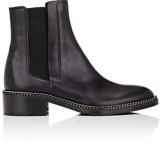 Barneys New York Women's Chain-Embellished Leather Chelsea Boots - Black